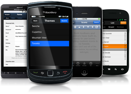Sencha Touch 1.1 with support for BlackBerry OS 6